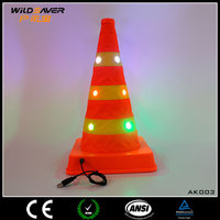 yellow inflatable led light traffic cone pole/safety traffic cone