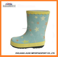 Fashion Kids' Rubber Rain Shoes with durable quality
