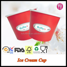 Hot Sale Customize Ice Cream Paper Cup With Dome Lid