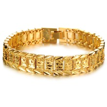 24 carat pure gold men bracelet jewelry