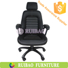 2015 New High Back Ribbed Leather Computer Office Desk and Chair