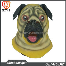 Newest popular latex animal head mask Pug Dog mask for Halloween party