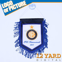Inter Milan sport fans home interior decoration design or car design sucker mini car flags and banners