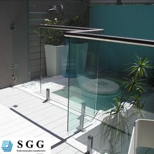 Cheap price 12mm clear tempered glass fence panels