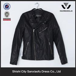 China Factory Clothing Custom Made Jacket Men Leather Motorcycle 2015