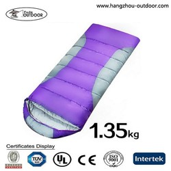 Winter style colorful single peroson sleeping bag