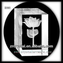 3D láser grabado de la flor de loto