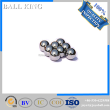 Drilled nickel coated chrome steel ball with hole