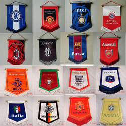 wholesell 100pcs/lot customized gift pennant flag