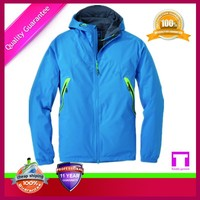 Foldable blue winterbreaker stylish uniform jacket/office polo jacket uniform