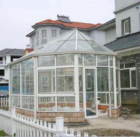 2015 new Aluminum Garden Sunroom with Tempered Insulated Glass