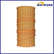 HZW-13798004 Orange yellow stripes adult soft bandanas tube scarf for sale