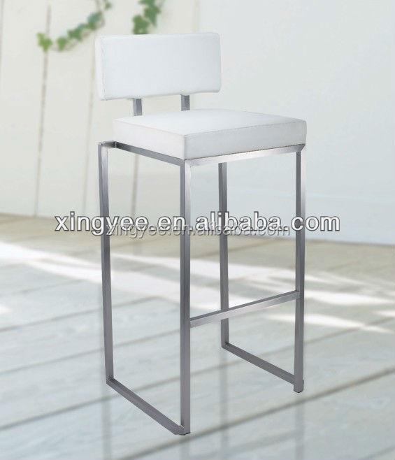 Modern High Kitchen Chairs: Modern Kitchen High Chair Stainless Steel Bar Stool High