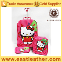 SB005 online shop china lovely hello kitty kid school bags with wheels