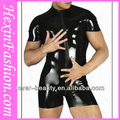 grossista sexy cool couro pvc catsuit homens