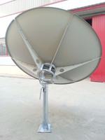 C/KU band 2.4m satellite dish/tv/wifi/car tv/3g/hdtv antenna & receiver
