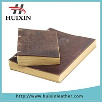 Faux leather engraved craft a4 size pu leather notebook