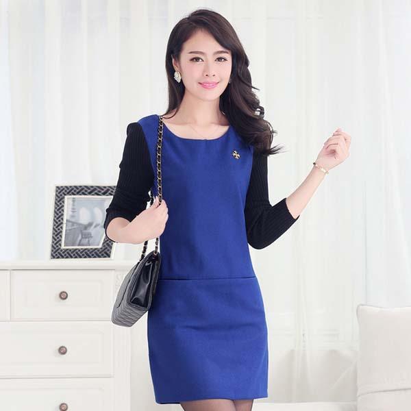 Nz1348 Dress Kantor Wanita