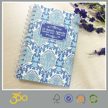 hot stationery 2015 diary planner,spiral notebook with colored paper