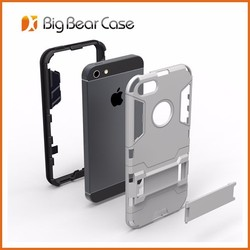 Slim armor kickstand cover case for iphone 5 5s