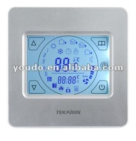 Touch screen digital room thermostat for floor heating