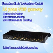 WCDMA 16 Port Modem gateway With 16 Module Support Linux or Mobile Recharge IMEI Changeable