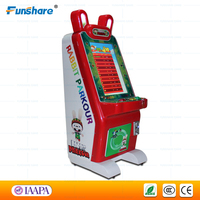 Funshare popular rabbit parkour coin operated amusement lottery ticket game machine