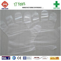 Clear Transparent Disposable Plastic Hand Glove for Cooking