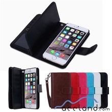 "Luxury 9 Card slot Leather Wallet Case Flip Cover Phone Case Card Holder For Iphone 6 4.7""& 6 Plus 5.5"""