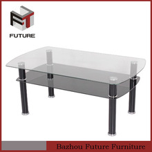 2015 new design low price glass top coffee table