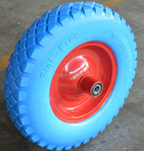 pu foam rubber wheel 4.00-8 red color