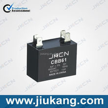 High Quality China Manufacturers cbb61 4uf 450v fan capacitor for sale
