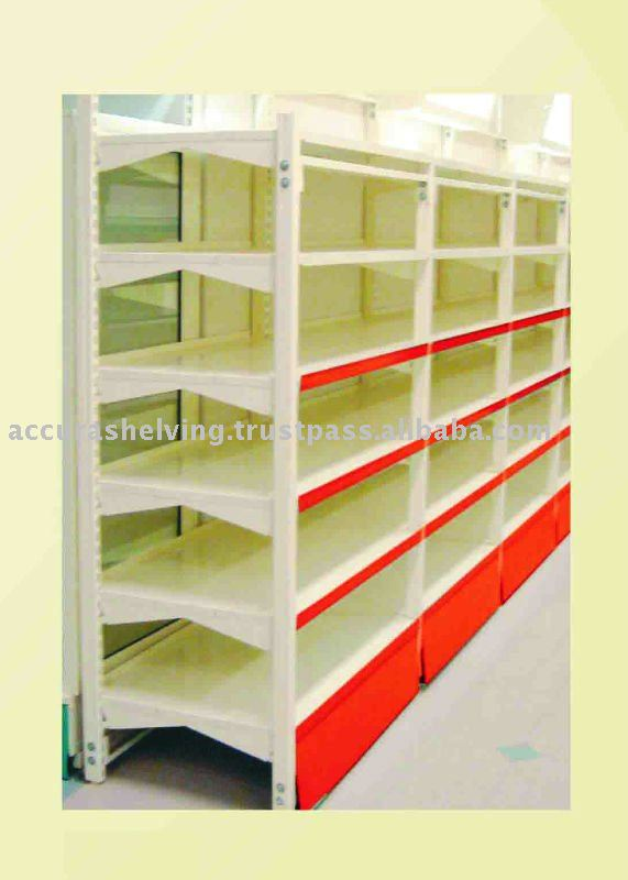 heavy duty wall shelving unit buy supermarket shelving. Black Bedroom Furniture Sets. Home Design Ideas