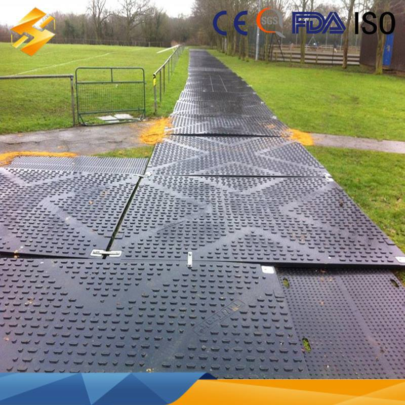 Hdpe Ground Protection System Mats Hdpe Access Lawn