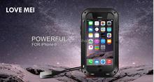 Love Mei water proof Metal Aluminium Case cover For iphone 6 plus
