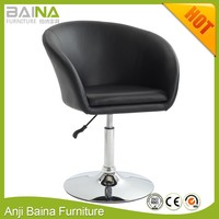 Leather swivel cheap barber chair bar stool big leisure chair