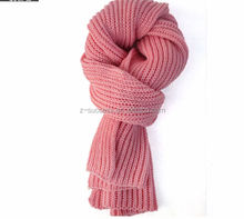 2015 winter new designed thick and long knitted women scarf