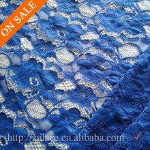 Jacquard elastic dark blue lace fabric with new fashion