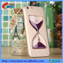 Where does the time go? 2015 Transparent New Cover 3D Hourglass Case For iphone 6 Clear