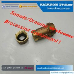 klikkon brass flexible toilet hose