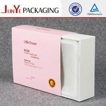 Letter shaped pink paper treasure chest bracelet gift box