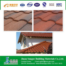 popular colored Stone coated Roof Tiles/Sand Coated Metal Roofing Tiles