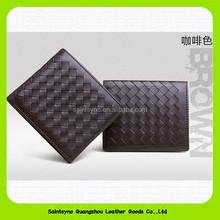 15410 Leather men wallet anti-theft alarm