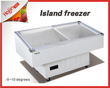 Seafood chiller with white color for clients