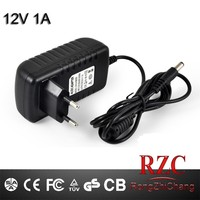 maufacturer 12V 1A AC DC Power Supply WALL adapter