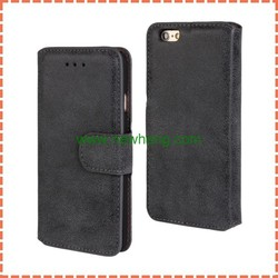 Retro Frosted Case Luxury PU Leather Wallet Stand Cover Flip Pouch For iPhone 6 6Plus With Card Holder