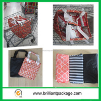 600D Coating Oxford Folding Supermarket Trolley Bag with Velcro Fastening