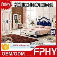 Factory supply Wholesales korean-Style 8203# MDF Wooden model bedroom sets