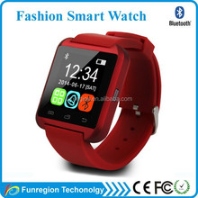 2015 Fashion CE ROHS smart watch mobile phone with android and IOS system