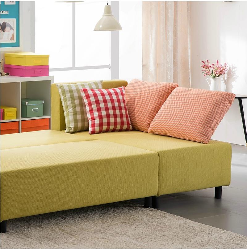 High Density Foam Small Corner Sofa With Chaise Corner